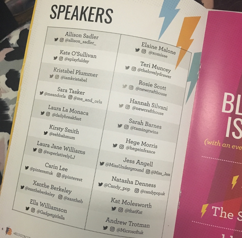 What I learned at Blogtacular 2016 - The Speakers