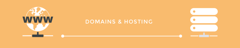 The difference between domains and web hosting.