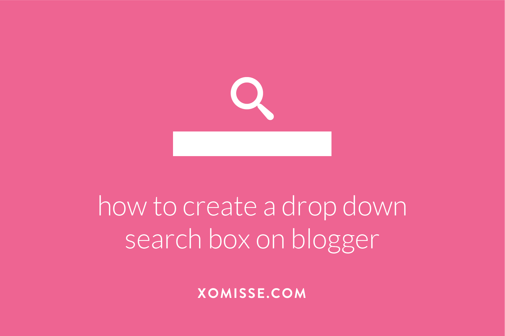 create a drop down search box in your navigation on blogger