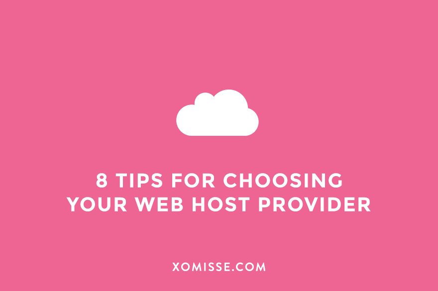 8 factors to consider when choosing a web host provider for your blog