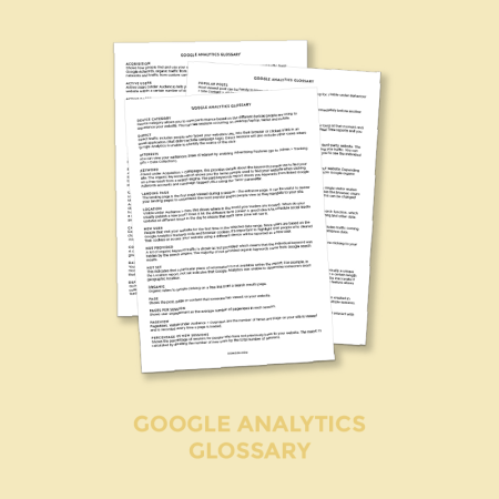 Free Google Analytics Glossary