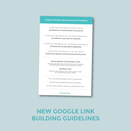 XOmisse New Google Link Building Guidelines