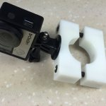 DIY GoPro roll bar mount