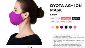 F-Stop Gear Dyota AG+ face mask