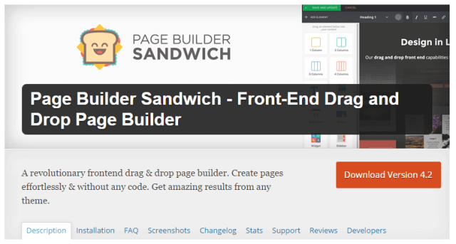 Page Builder Sandwich - WP Front-End Drag and Drop Page Builder