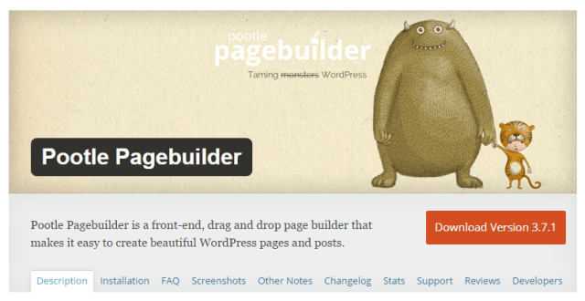 Pootle WP Plugin Drag and Drop Page Builder