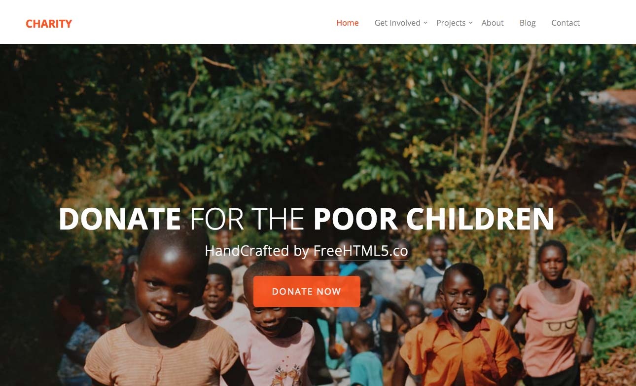 20 Free Bootstrap Charity Templates With Download Link Xoothemes