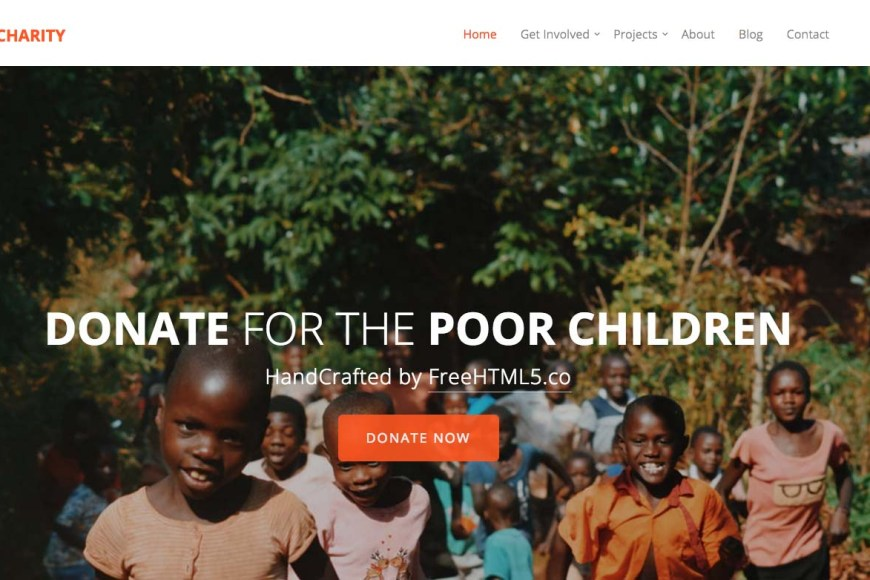 Free Bootstrap Charity Templates