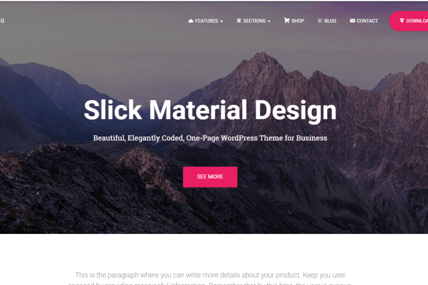 free material design WordPress theme