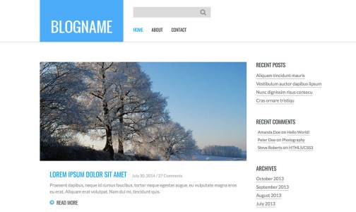 20+ Free Bootstrap Blog Templates