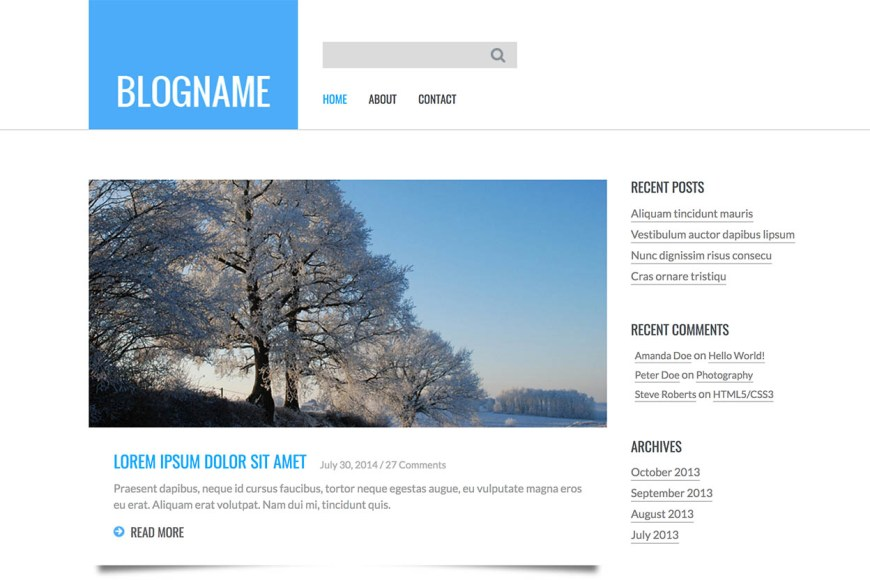 Free Bootstrap Blog Templates