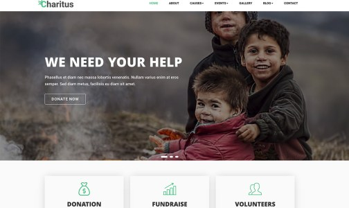 Charitus – Donation Non Profit Charity Website Bootstrap Template
