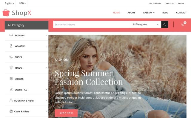 Free Bootstrap eCommerce Template