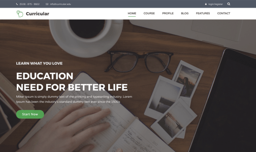 Curricular Bootstrap Education Template
