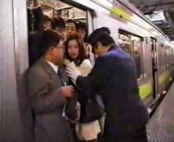 Crowded Japanese trains promote groping