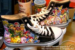 Custom Nintendo Converse Shoes