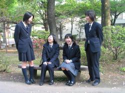 Japanese Schoolgirls wearing slacks