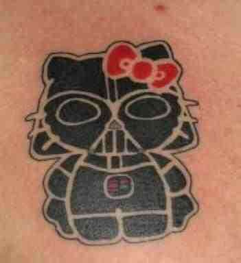 Hello Kitty Tattoo: Darth Vadar