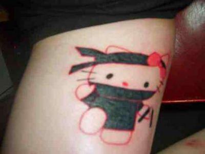 Hello Kitty Tattoo: Ninja