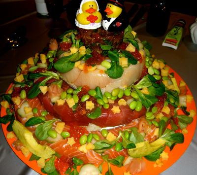 A real sushi cake