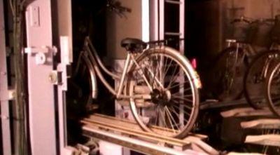 Bike storage in Edagawa
