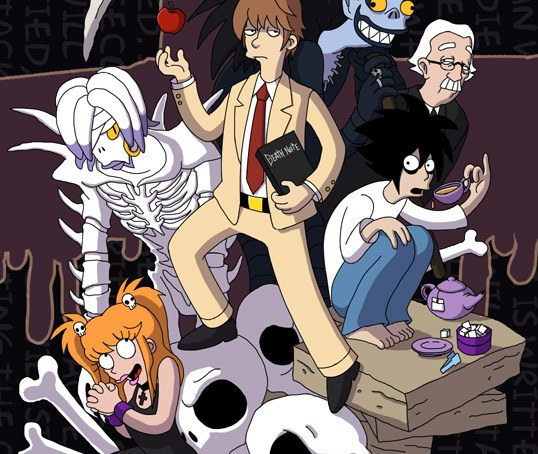 Death Note, The Simpson's style