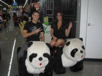 Kevin and Oliva on pandas