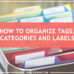 How to organize tags, categories, and labels