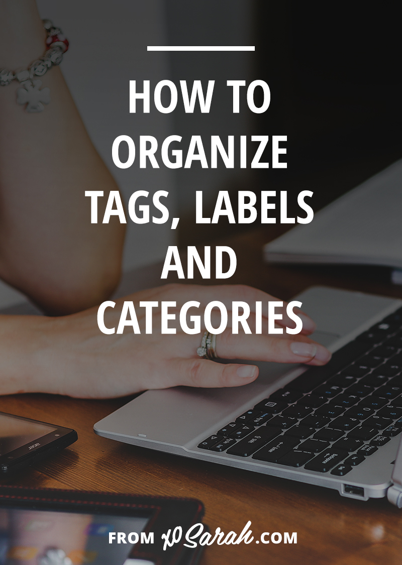 Categories, tags, and labels - what's the difference? How should you use them? And how can you use them in a way that benefits your readers.