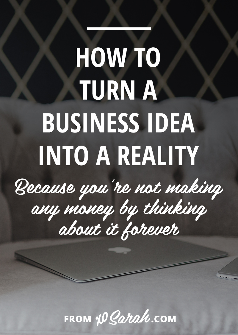 Why is it that we spend so much time thinking about a new idea, planning it in our mind - what we'll create, who we'll help, our daily life, website and business card designs - but have such a hard time turning it into reality. If you're ready to make it happen, click through for my 8-step plan!