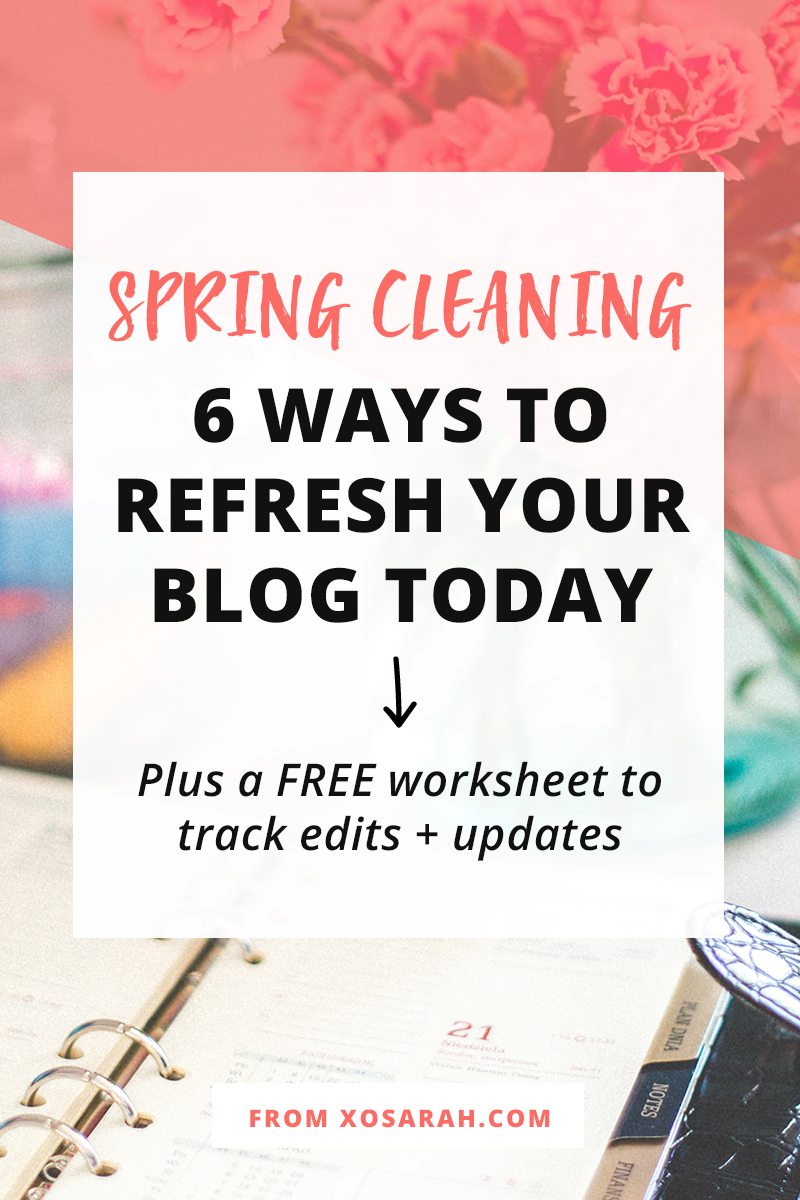 It's time to refresh your blog to help boost your motivation and your traffic at the same time! Plus download the free spring blog cleaning worksheets!