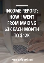 This has been a really exciting summer business-wise as I hit some big income milestones. I now earn more working for myself than I did at my $50k/year corporate job. I started hitting 5-figure months. Last year I earned just under $28,000 and this year I will earn 6-figures. Like I did when I made that realization, I'm sure you're wondering...how the hell did that happen?? So this post is as much for me to break it all down as it is for you to see how it's possible.