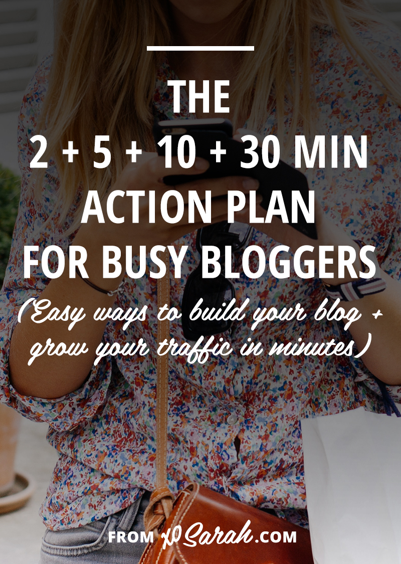 Building a successful blog doesn't have to take hours and hours of work. Here are easy blog-building actions you can take in just 2, 5, 10, or 30 minutes each day!