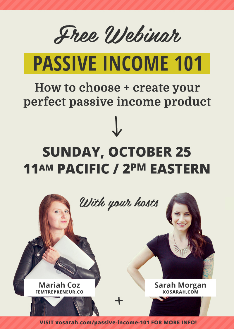 Learn the 5 types of passive income products + which one you should start with, how to choose a topic for your passive income product using our proven three-part formula, how to price your product for maximum profits, and the 5 biggest mistakes people make when trying to create passive income!