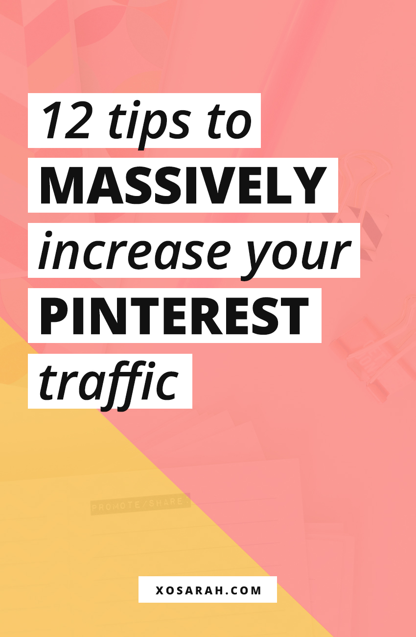 Wondering how to increase your blog traffic and grow your social media following? Here are the best Pinterest marketing strategies for online business owners and bloggers. If you're not pinning your blog posts daily you're missing out!