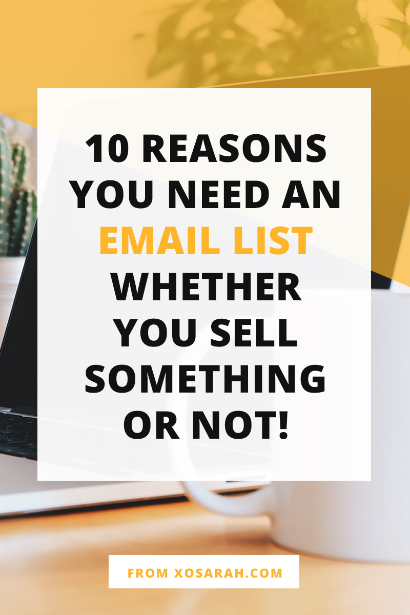 Attention bloggers + creative biz owners: If you're putting time into building an audience online you DO need to collect all your fans and followers into one list. Here's why building an email list is so important.
