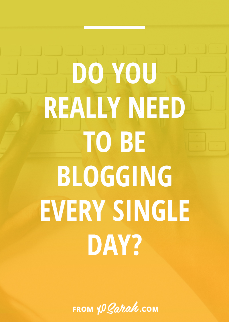 I began blogging at a time when most people wrote about their lives and blogging was more like a journal than a marketing platform. But now that my blog's purpose is to help grow my business, daily posts just aren't necessary or a great use of my time. Here's why . . .