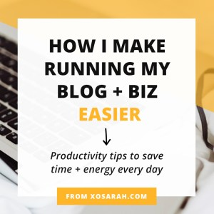 Hey solopreneur, feeling frazzled by your endless to-do list? Here are 10 productivity tips to help you save time and energy as you check off tasks for your blog or business every day.
