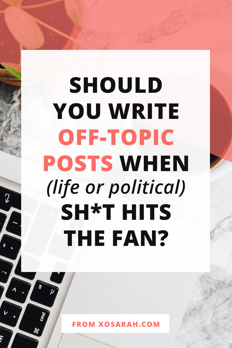 Worried about blogging about something political or sharing a personal experience that goes off-topic from what you usually post. Here's how to get past the fear and why it may actually win you more fans and followers.