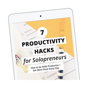 7 Productivity Hacks for Solopreneurs from XOSarah
