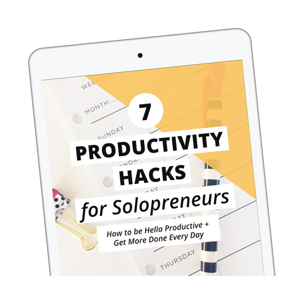 Hey solopreneur - If you end your day feeling overwhelmed, overworked, or guilty for falling behind, THIS ebook is for you. I'm sharing my best tips for planning, goal setting, project management + knocking out your to-do list to finally be productive!