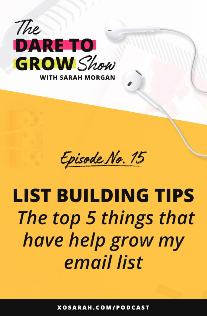 Working on growing your email list? Here are my top tips for opt-in boxes, freebies, content upgrades, gaining subscribers, and sending out weekly emails.