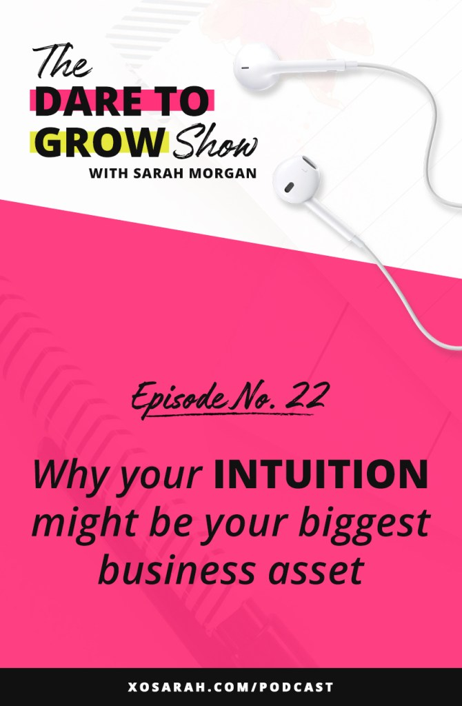 Hey solopreneur - Tying to figure out what to do next to grow your following, earn more online, and be more productive - your intuition may be your biggest business asset.