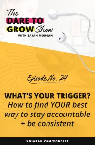 Hey solopreneur - Having trouble sticking to your deadlines and turning tasks into habits? Here's how to find a trigger that will keep you accountable and on top of your task list.