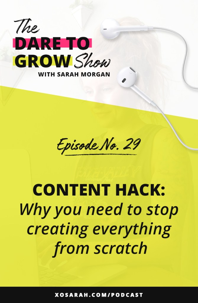 Hey Solopreneur - If you are overwhelmed by your task list and feel like you're either endlessly creating content for your blog, email list, Instagram, or don't have time to create enough content - this episode is for YOU!