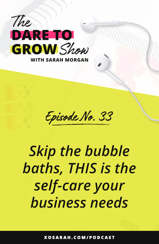 It's not all bon bons and bubble baths. There's a different type of stress that comes from building a business and being a solopreneur. Here are 5 self-care strategies to add to your business for more focus, more productivity, and less stress.