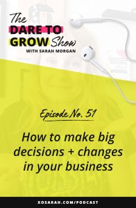Ready to make a big business decision? Whether you're hopping on IG Reels, raising your prices, or creating an online course - here's the strategy for weighing the options and moving forward with confidence.
