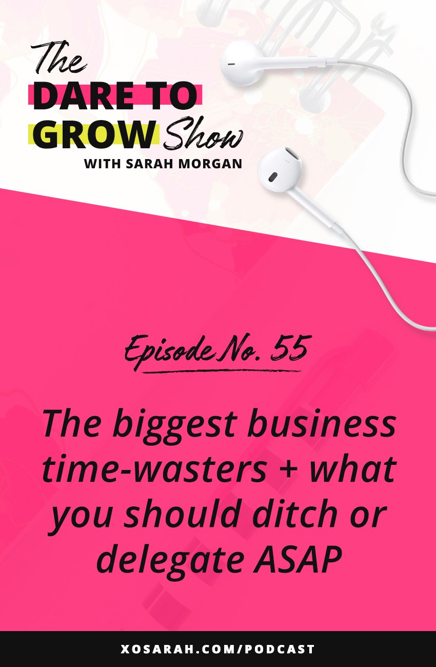 Hey solopreneur - Want to be more productive? Scrolling, researching, admin tasks - these are some of the biggest business time wasters that could be keeping your biz from growing. Here's how to spot time wasters and ditch them or delegate them so you can get more done every day.