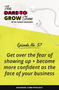 Avoiding Reels, Stories, IGTV and generally showing your face on Instagram? You might be blocking your own business growth by avoiding showing up. Here's how to get over your fear and become more confident as the face of your business.