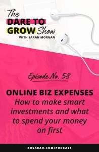 Are you making business investments based on strategy or shiny object syndrome? For solopreneurs expenses can be confusing. Here's where to spend your money in the first 3 years and how to make sure you make wise business investments.